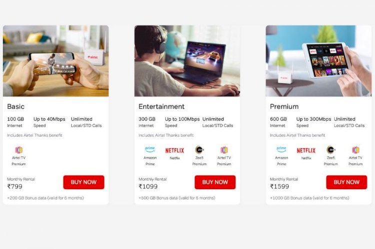 Jio Effect: Airtel V-Fiber Offers up to 1000GB Free Data & Plans Start at Rs 799