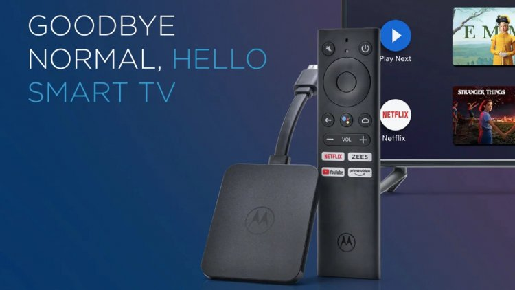Motorola 4K Android TV Stick launched at ₹3,999, Know More