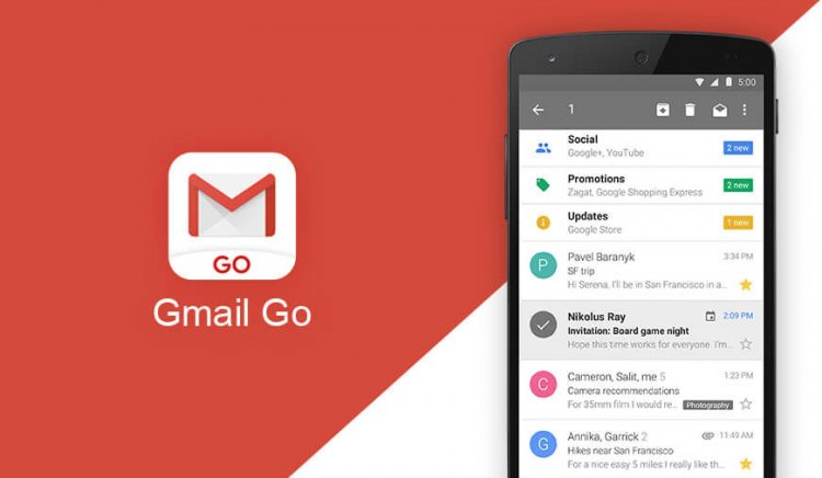 Gmail Go reaches 500 million downloads on the Google Play Store