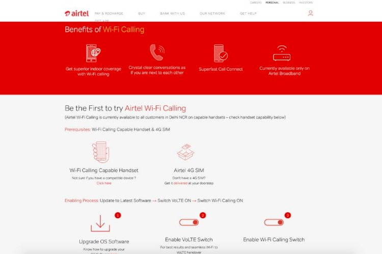 Airtel Wi-Fi Calling Now Available in More Regions For Prepaid And Postpaid Users