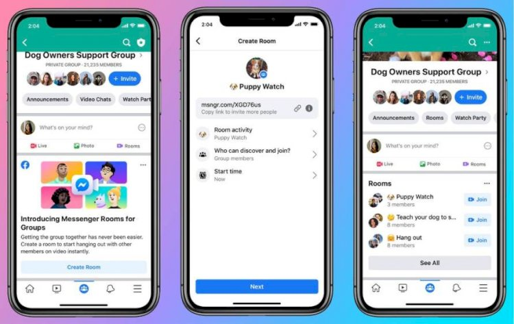 Facebook's Messenger Rooms allow 50 people on a video call