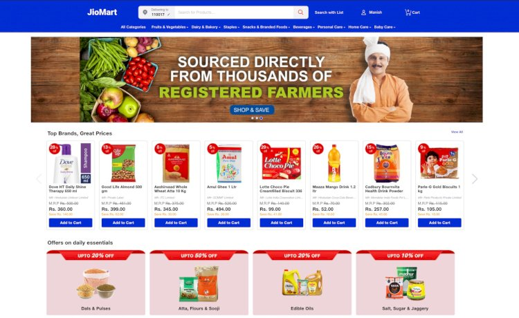 JioMart, the e-commerce venture launched in additional cities.