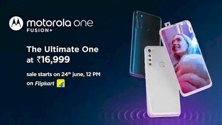 Motorola Fusion One+ Sale via Flipkart on 24 June.